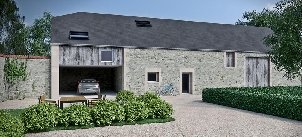 Aménagement d'une grange en habitation (Marne)