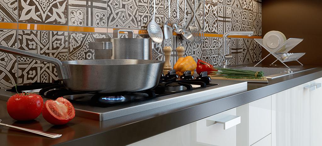 Aménagement d'une cuisine ouverte (Hauts-de-Seine)